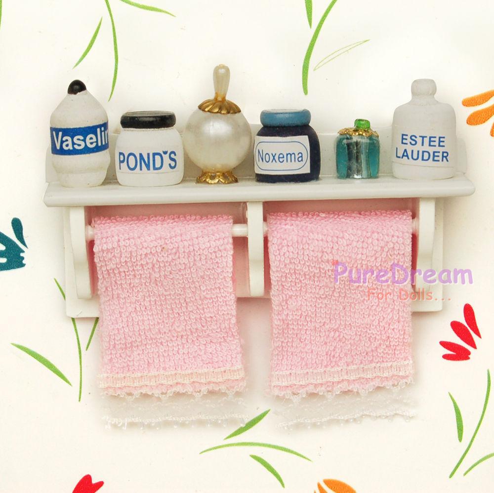 Estante para ba o miniatura para casa de mu ecas for Estante porta toallas para bano