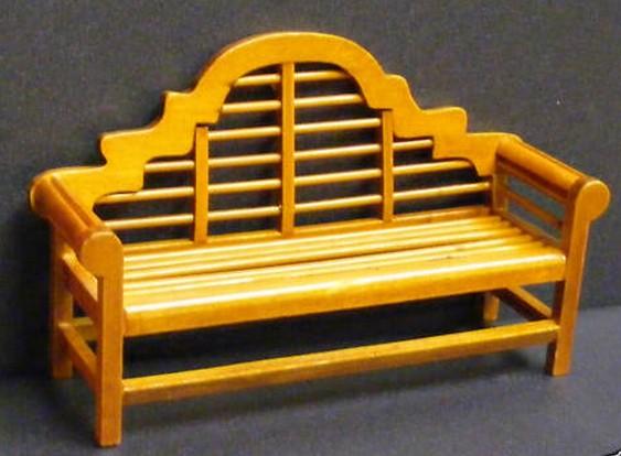 Banco de madera miniatura para casa de mu ecas todocapricho - Casas en miniatura de madera ...