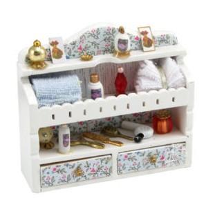Estante para ba o con accesorios miniatura para casa de - Accesorios para casa de munecas ...