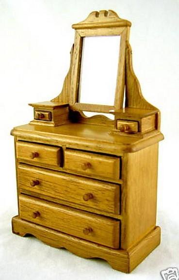 Comoda de madera pino miniatura para casa de mu eca todocapricho - Casas en miniatura de madera ...