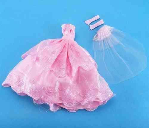 Vestido De Novia Para Barbie O Muñeca Similar Nuevo W 113