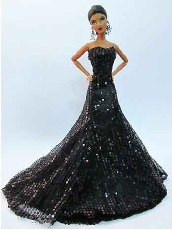 Precioso Vestido De Noche Para Barbie Fashion Royalty O Similar