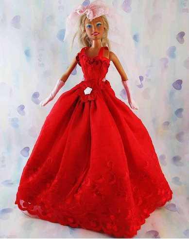 Vestido De Fiesta Para Barbie O Muñeca Similar V 183
