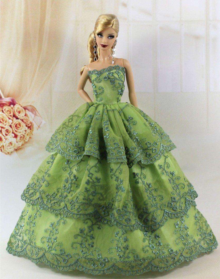 Vestido De Fiesta Para Barbie O Muñeca Similar 360